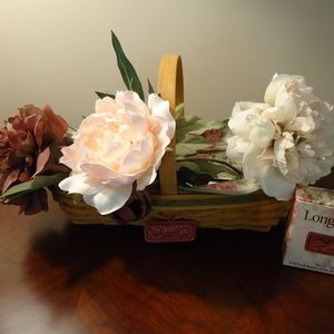 Longaberger Peony Basket with Flowers May Series